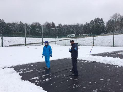 雪かき コバサン.JPG